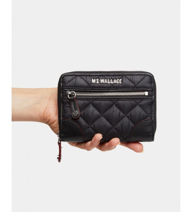 MZ Wallace Crosby Wallet Small Black 11600108